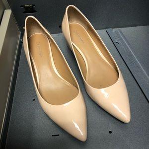 Blush Pink Pointed Toe Block Short Heel